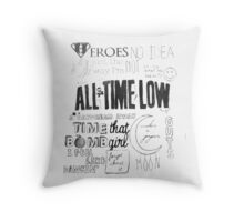 All Time Low Dirty Work Discography Pillow Throw Pillow