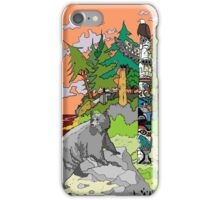 Bear at First Nation Totem Pole iPhone Case/Skin