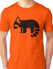Red Panda Silhouette Unisex T-Shirt