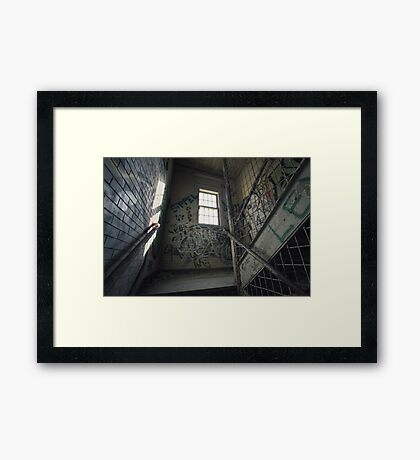 Kings Park Psychiatric Center Stairwell Framed Print