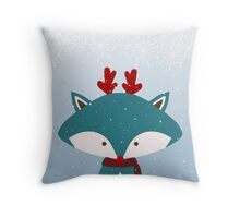 Foxy Gets Trendy For Christmas  Throw Pillow