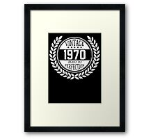 Vintage 1970 Aged To Perfection Framed Print