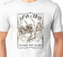ICARUS THROWS THE HORNS - extreme distress t-shirt design Unisex T-Shirt