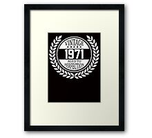 Vintage 1971 Aged To Perfection Framed Print