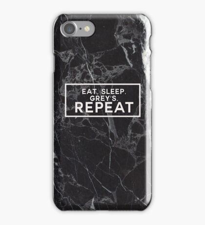 EAT SLEEP GREY'S REPEAT - GREY'S ANATOMY iPhone Case/Skin