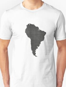 South America vintage  map on grey background Unisex T-Shirt