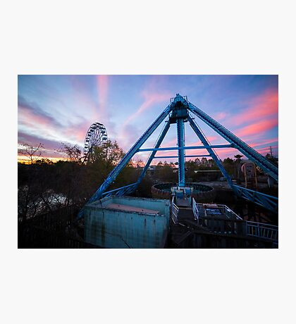 Abandoned Six Flags New Orleans Photographic Print