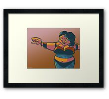 Peaceful and plump belly-dancer Framed Print