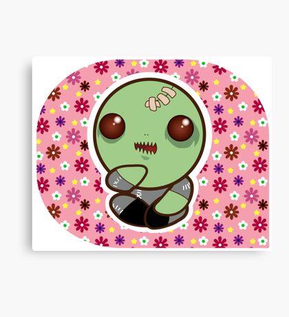 Kawaii Zombie Canvas Print