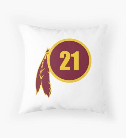 Sean Taylor Redskins Logo Throw Pillow