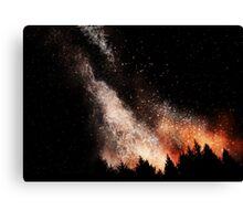 Fire Galaxy Canvas Print