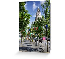 Liver Building and bunting Greeting Card