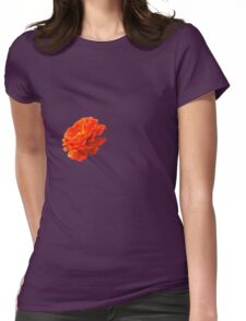 Little red flower Womens Fitted T-Shirt