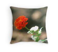 Little red flower Throw Pillow