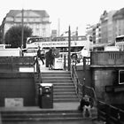 Hamburg City -b&w -street by OLIVER W