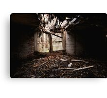 Collapsing Window Canvas Print