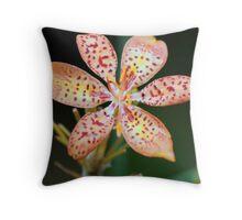Flower red petal Throw Pillow