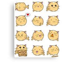 Fuzzballs Kawaii Cat! Canvas Print
