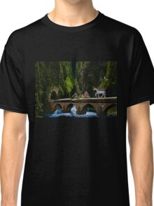Whimsical Fantasy Scene With Crazy Characters Classic T-Shirt