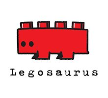 Red Legosaurus by SevenHundred