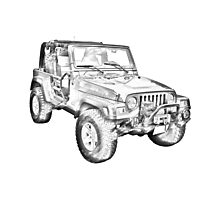 Jeep Wrangler Rubicon Illustration Photographic Print