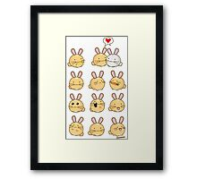 Fuzzballs Kawaii Bunnies Framed Print