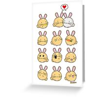 Fuzzballs Kawaii Bunnies Greeting Card