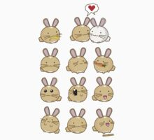 Fuzzballs Kawaii Bunnies by rabbitbunnies
