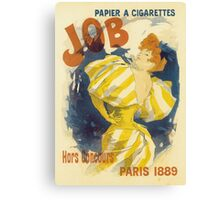 Cheret - Job Cigarette Canvas Print