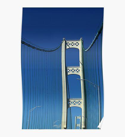 Two Towers Mackinac Bridge Poster