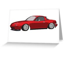 Stanced Mazda Miata Greeting Card