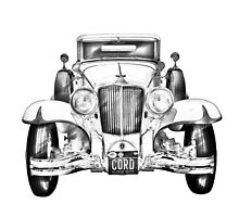 1929 Cord 6-29 Cabriolet Antique Car Illustration by KWJphotoart