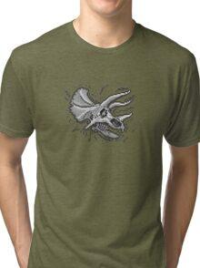 Pixkull - Triceratops  Tri-blend T-Shirt