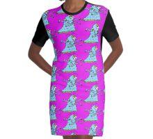 BEHOLD ... MS. OCTAVIA FLANGEWHIPPET Graphic T-Shirt Dress