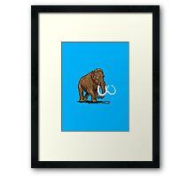 Prehistoric Pixels - Mammoth Framed Print