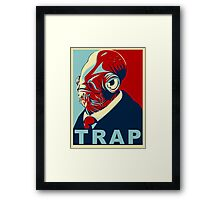 TRAP for President Framed Print