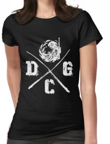 Dead Center Gaming - White Womens Fitted T-Shirt
