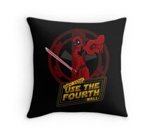 Use The Fourth Wall Throw Pillow