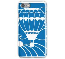 Paper art - Hot Air Balloon on a royal blue background iPhone Case/Skin