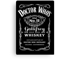 Jack Daniel's Doctor Who Canvas Print