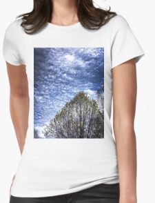 Spring clouds Womens Fitted T-Shirt