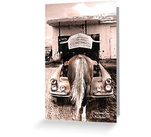 One horse town Greeting Card