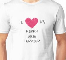 I Love My Kerry Blue Terrier Heart Shirt For Dog Lovers Unisex T-Shirt