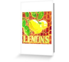 Limones de Mallorca Greeting Card