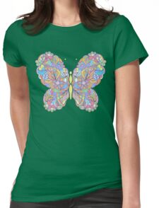 Colorful buterfly Womens Fitted T-Shirt