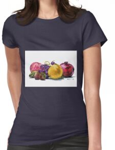 Fruit  Still Life Womens Fitted T-Shirt
