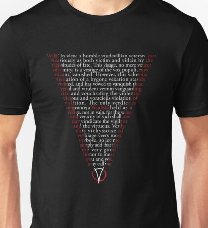 V for Vendetta - Who are you? Unisex T-Shirt