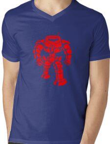 Manbot - Red Mens V-Neck T-Shirt