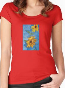 Lil' Bit of Sunshine in Plastic Wrap. Women's Fitted Scoop T-Shirt