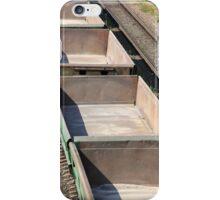 empty railway cars iPhone Case/Skin